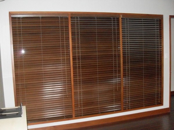 Basswood Ebony Wooden Blinds