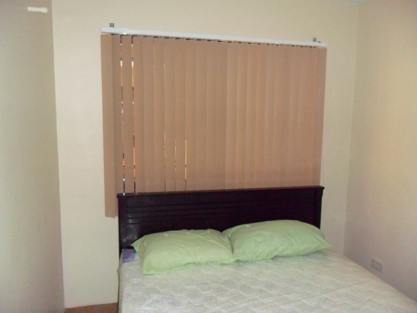PVC Vertical Blinds Intalled in Bedroom