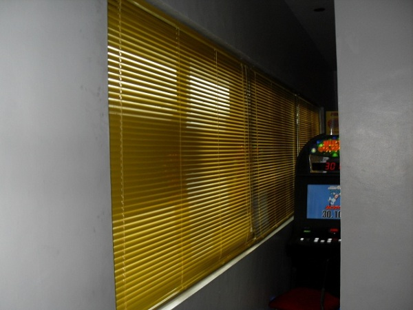 Sun Yellow Color of Mini Blinds