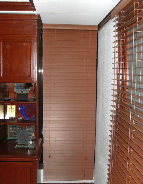 Cherrywood Color of Fauxwood Blinds