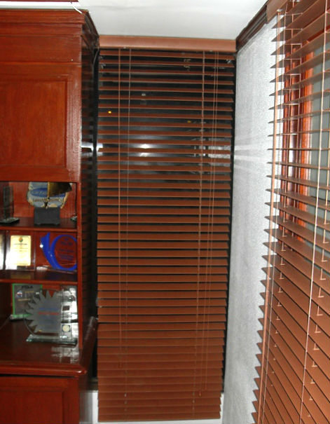 Fauxwood Blinds Installation in Lemery Batangas, Philippines
