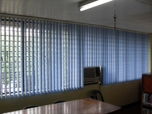 PVC Vertical Blinds Installation at Sta. Mesa, Manila, Philippines