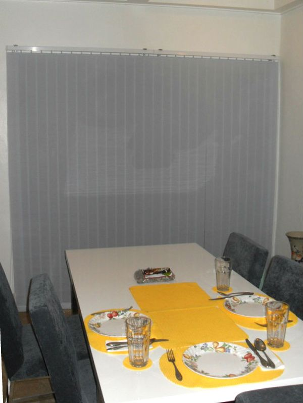 V7546 Blue Fabric Vertical Blinds