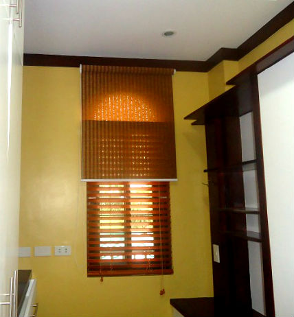 Roller Blinds and Wooden Blinds Installation at Malabon City, Philippines