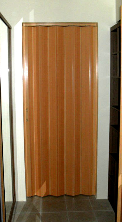 Deluxe Beech Accordion Door Installation at Malate, Manila, Philippines