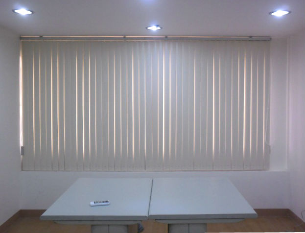 office window blinds. Vanilla Corrugated PVC Vertical Blinds Office Window