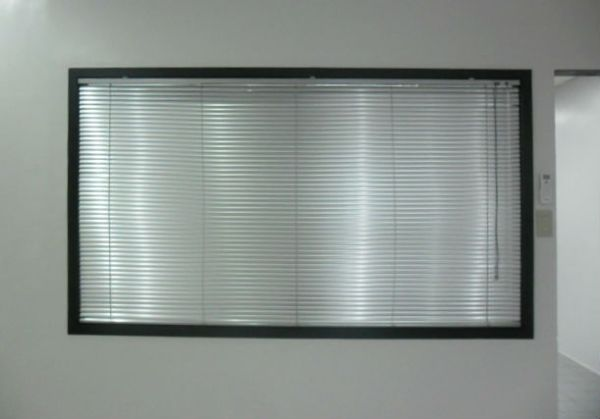 Silver Star Color of Mini Blinds Installed in an Office