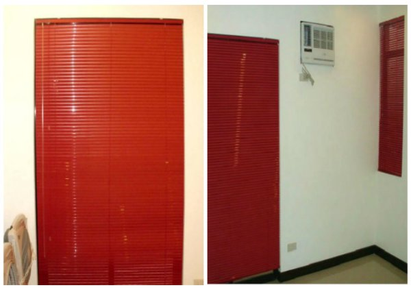 Installation of Mini Blinds: Pearl Red for Boy's Bedroom