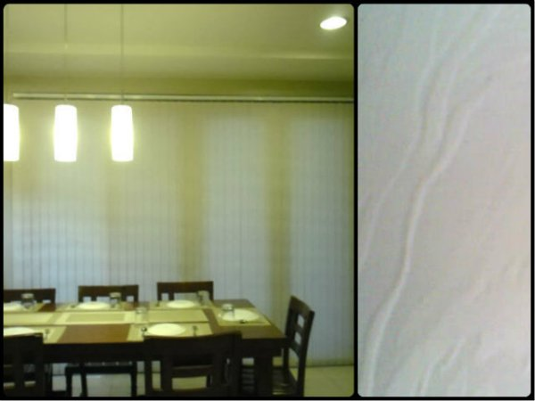 Make Your Dining Room more Relaxing with the Help of Fabric Vertical Blinds: V7551 WHITE