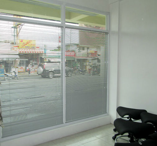 Mini Blinds / Venetian Blinds: Gray -  For Sophisticated Look