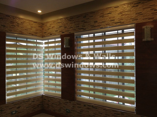 combi blinds as windows cover for living room inspiredzen design