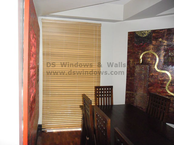 Installed Wood Blinds in Pampanga, Philippines