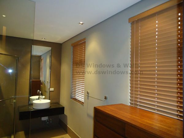 Installed Faux Wood Blinds in Sun Valley, Antipolo City