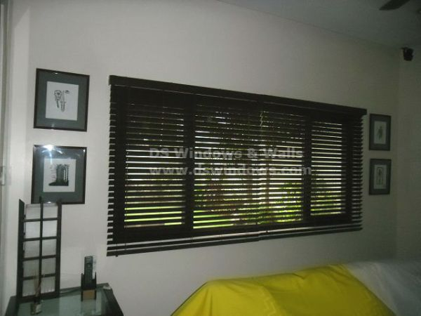 Installed Faux Wood Blinds in Urdaneta Village, Makati City