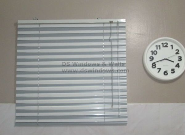 Combination of Smoke Gray and Ash Gray Mini Blinds
