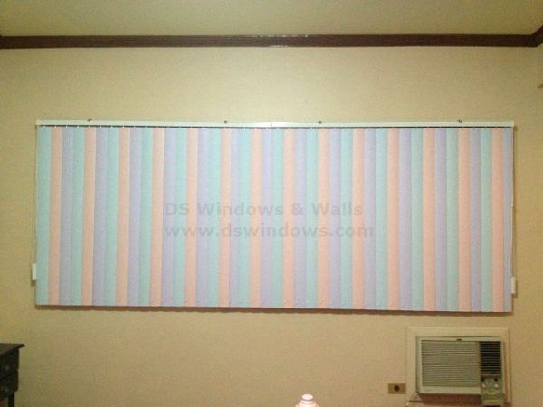 Combination of Three Different Color in PVC Vertical Blinds
