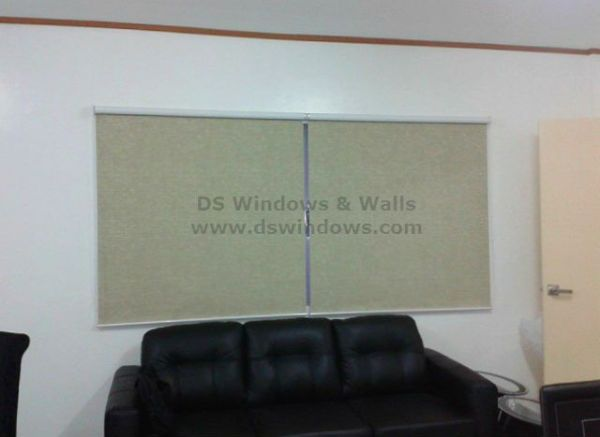 Installation of Roller Blinds in Bonifacio, Global City, Philippines