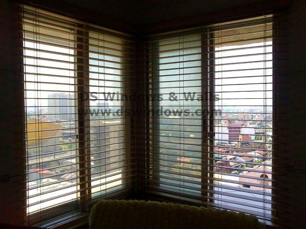 Installation of Faux Wood Blinds in Mandaluyong City, Philippines