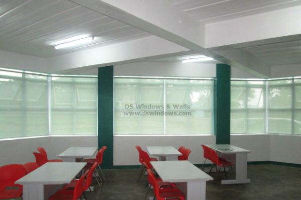 Roller Blinds Peaceful School Color Scheme Installed in Taguig City