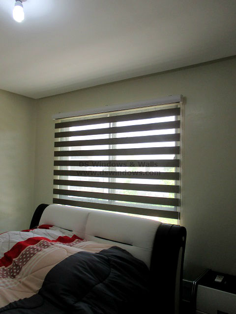 Combi Blinds Creates An Appealing Look For Simple Bedroom - Makati