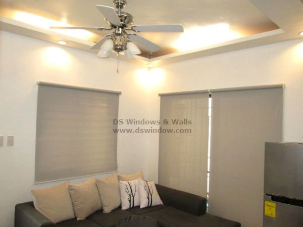 Roller Blinds For A Pleasant Living Room With A Shades Of Grey - Quezon City