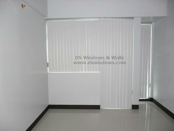 PVC Vertical Blinds Installed in Wind Residences, Tagaytay Philippines