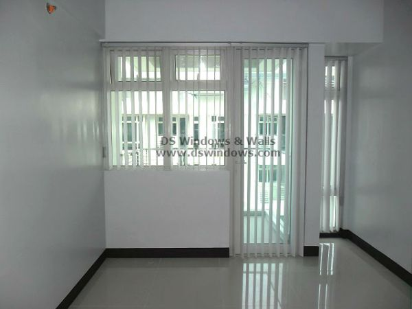 PVC Vertical Blinds As Patio Door Window Treatment - Wind Residences, Tagaytay