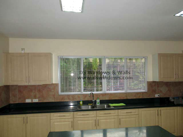Aluminum Venetian Blinds For A Wooden Kitchen Design Bf Homes Para Aque City Philippines
