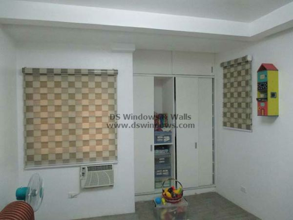 Dual Shades Blinds Produce Playful Ambiance of Simple Room - Magallanes Village, Pasay