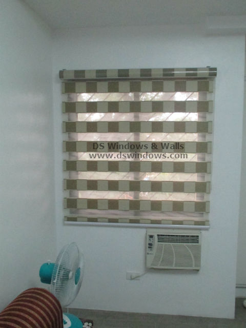 Dual Shade Blinds with Checkered Design - Magallanes Village, Pasay Metro Manila