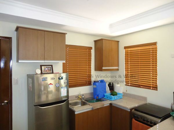 Emphasize the Beauty of Kitchen with Light Oak Foam Wood Blinds - Las Piñas City