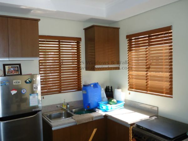 Foam Wood Blinds installed at Happyville, Las Piñas City Philippines