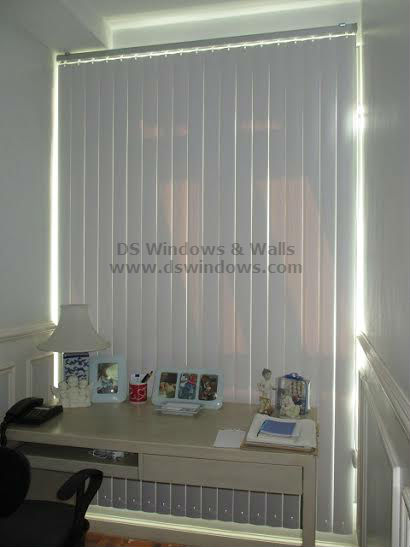 PVC Vertical Blinds installed at Sun Residences, Quezon City Philippines