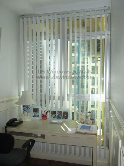 PVC Vertical Blinds to Lessen Heat at  Sunlit Room - Sun Residences, Quezon City Philippines