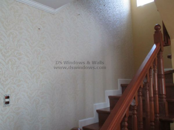 Elegant Staircase with Patterned Wallpaper - Tayabas Quezon