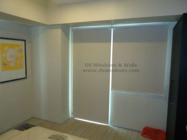Blackout Roller Shades installed at Fort Bonifacio, Taguig City Philippines