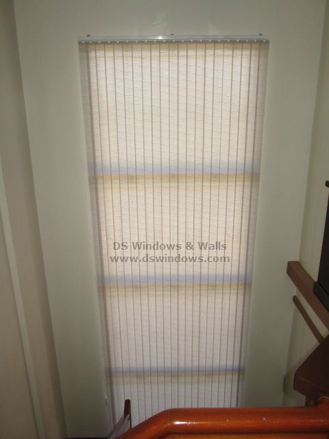 Fabric Vertical Blinds For Staircase Window - Madaluyong City, Philippines