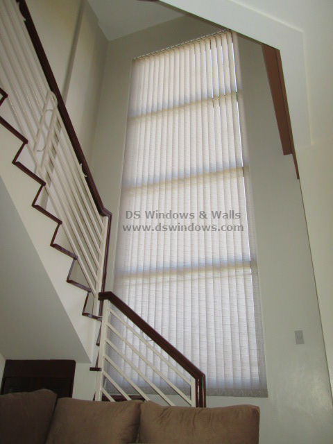 Fabric Vertical Blinds For High Ceiling Staircase   Mandaluyong City,  Philippines