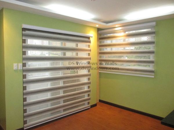 Crescendo Dual Shade Blinds for Two Toned Aparment - Marikina City, Philippines