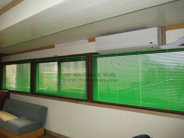 Mini Blinds For Wide Office Windows Installed At Pasig City, Philippines
