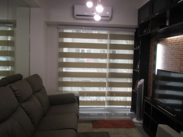 Pleated Combi Blinds for Entertainment Rooms