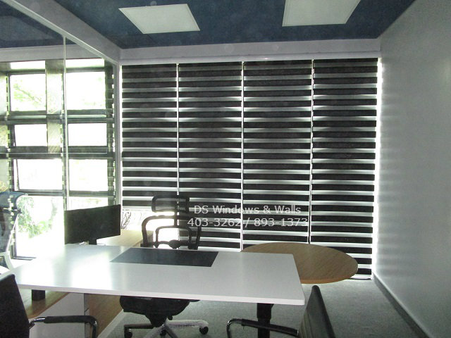 Small Office Window Cover