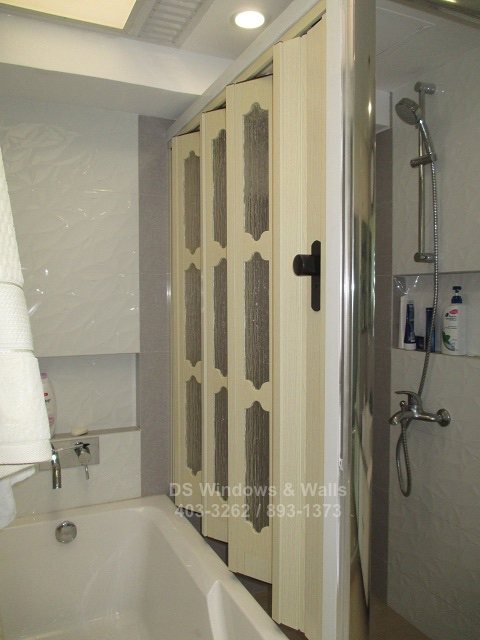 Bathroom French Door with Glass Panel