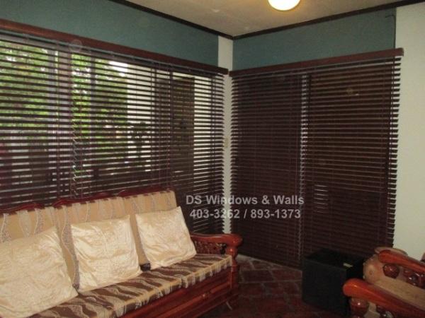Premium real wood blinds