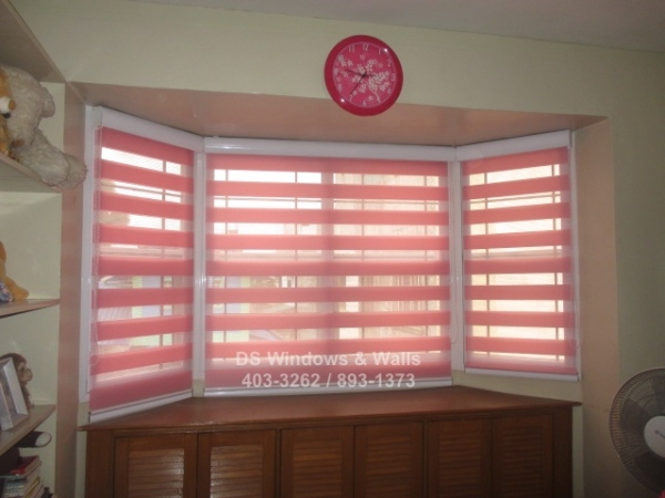 Color pink combi blinds - Las Pinas project
