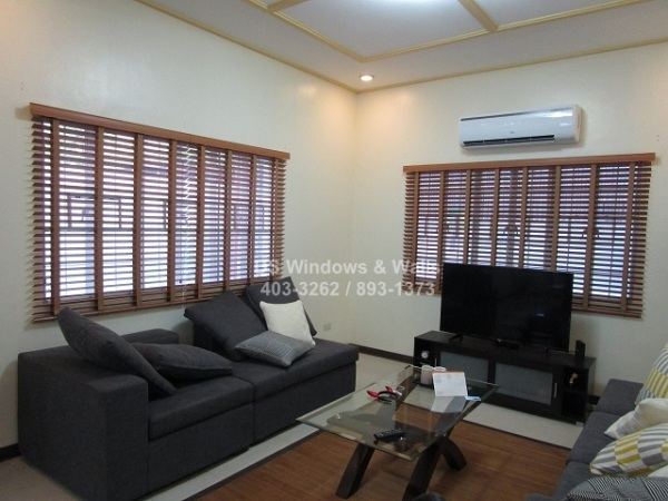 Ladder tape wood blinds