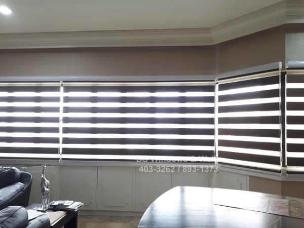 Combi blinds as alternative for home curtains